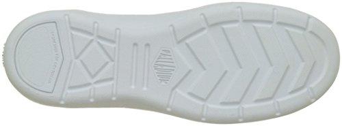 Donna Palladium Alto Bianco A White Aventure Sneaker Collo Canvas YBYavF