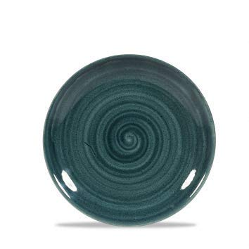 Churchill Stonecast -Coupe Plate Teller- Durchmesser: Ø16,5cm, Farbe wählbar (Rustic Teal) Teal Coupe