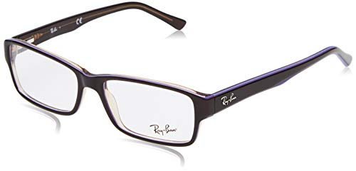 Ray-Ban Herren 0rx 5169 5816 54 Brillengestelle, Braun (Trasp Brown On Top Violet),
