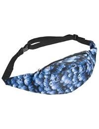 SLB Works Sport Waist Bag Coin Bags Mobile Phone Fanny Packs Unisex Belt Bags(Navy Bl V7Q4