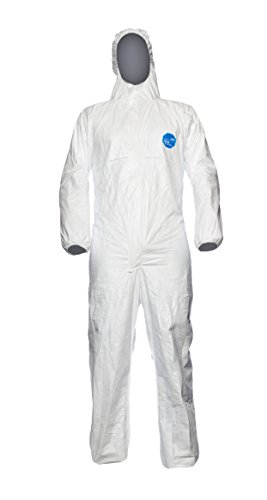 Preisvergleich Produktbild DuPont Classic Xpert Modell CHF5 Anzug mit Kapuze, Tyvek, Größe XX-Large, Weiß