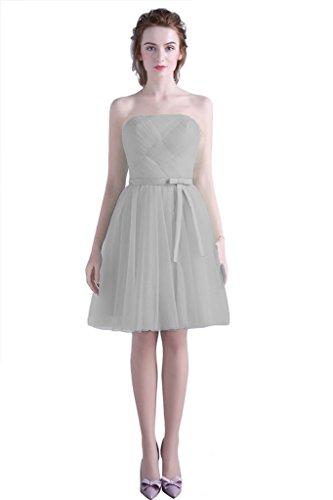 Vimans -  Vestito  - linea ad a - Donna Light Grey