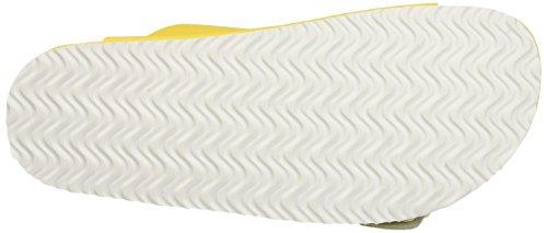 Pantone Formentera, Pompes à plateforme plate mixte adulte Jaune - Giallo (Cyber Yellow 14-0760 Tpx_33)
