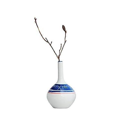 Maivas Décoration Vase en céramique peint à la main Mini-retro sec Fleurs–Thé Table créativité
