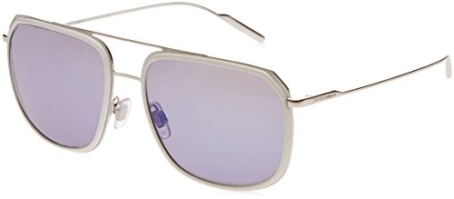 Dolce & Gabbana Herren 0DG2165 05/Y7 58 Sonnenbrille, Weiß (White/Silver/Grey),