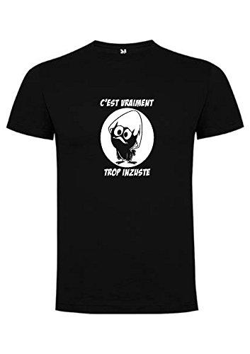 Tee-shirt Caliméro c'est vraiment trop inzuste (XXL, Noir)