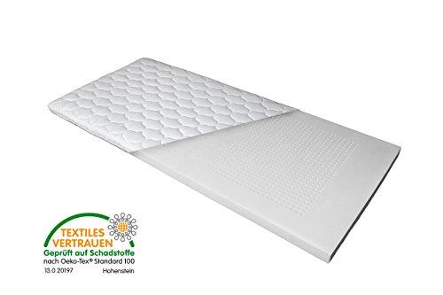 Luxus 7-Zonen Viscoschaum-Topper 90x200 cm mit Memoryschaum, Matratzenauflage mit Klimalochbohrungen und ergonomischen Liegezonen für höchsten Schlafkomfort von Betten Jumbo