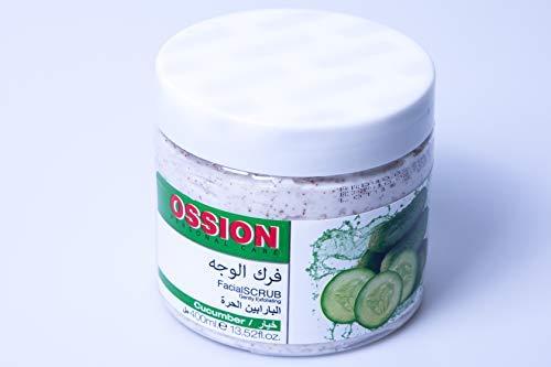 Morfose Ossion Gurke Körper Gesicht und Hände Peeling 400ml Facial Scrub Cucumber Pflege Care Sensible tiefe Reinigung