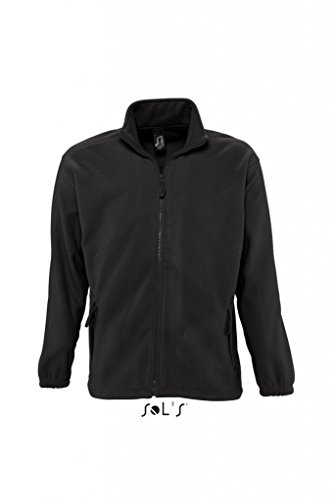 Sols Fleecejacke Fleece Jacke North bis Gr. 5XL ,Black, L