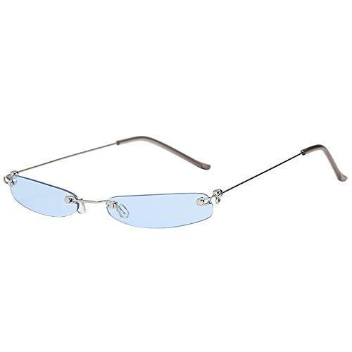 iCerber sonnenbrillen Süß Schöne Verspielt Frauen-Mann-Weinlese-transparente kleine Rahmen-Sonnenbrille-Retro Eyewear-Mode UV 400 ❀❀2019 Neu❀❀(LMehrfarbig)