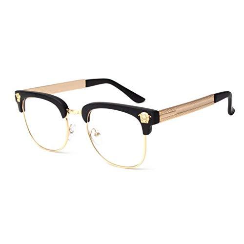CCGKWW Mode Marke Sonnenbrille Männer Frauen Metall Kopf Logo Designer Sonnenbrille Vintage Brillen Uv400 Oculos