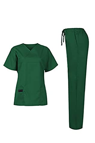 MedPro Women's Medical Scrub Set (Top & Bottom) Green S (5868)
