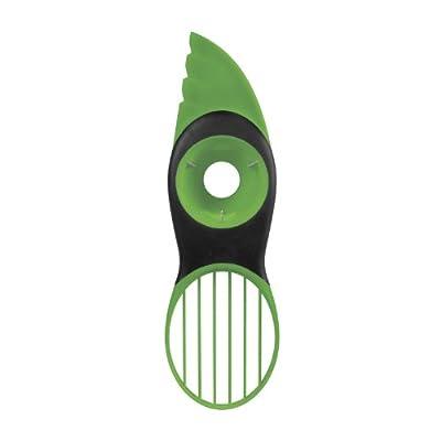Superideal Avocado Slicer Green Plastic Splits Pits Slices Sharp Blade Fruit Pitter Peeler Kitchen Tool Kit