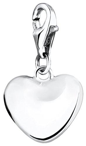 Nenalina Charm Herz Anhänger in 925 Sterling Silber für alle gängigen Charmträger 713004-000
