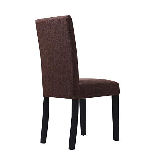 Esszimmerstühle YXX Polsterung, Moderner Massivholz Per-Home Stoff Stuhl für Küche Esszimmer...