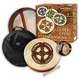 Waltons: 15 Inch Irish Bodhran Gift Set / Beater / DVD Tutor/ Case / Knotwork Cross Bodhran