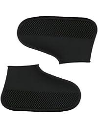 AOLVO Cubrezapatillas Impermeable Reutilizable de Silicona, Cubierta de Zapatos a Prueba de Agua con Suela Antideslizante