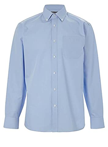 Mens Long Sleeve Premium Formal Oxford Shirts Sizes 14.5 to