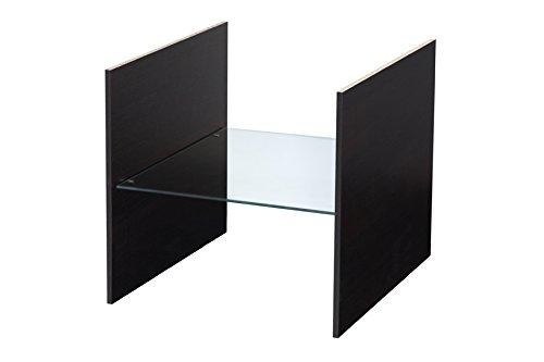 Extra Fach (Glasboden) für Ikea Kallax Regal (schwarzbraun)