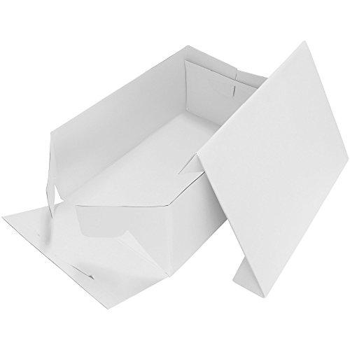 PME CBO901 Boîte à Gâteau Rectangulaire, Plastique, Blanc, 1,5 x 23 x 33 cm