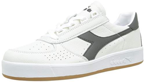 Diadora B.Elite L Sneaker Unisex Adulto, Bianco/Verde Scuro C8014, 39 EU