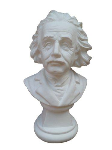 Büste Physiker Einstein 22cm weißer Alabastergips