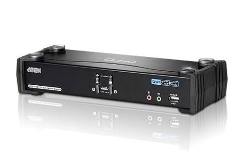 Aten CubiQ CS1782A 2-fach KVM Umschalter (Dual-DVI, 7.1 Audio, 120 Hz 3D, USB) (Video Umschalter)