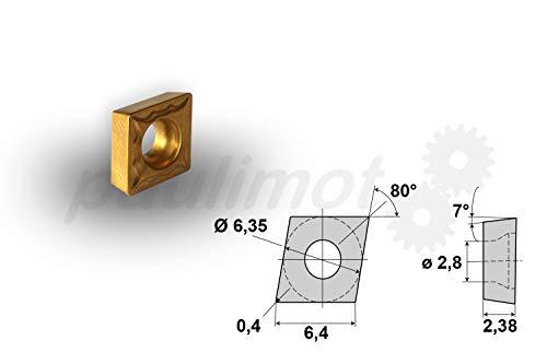 10 x PAULIMOT Wendeschneidplatte Wendeplatte CCMT060204 - 2