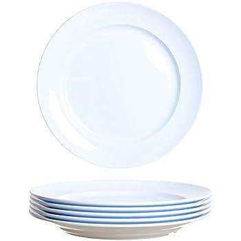 idea-station Gastro Kunststoff-Teller 6 Stück, 24 cm, weiß