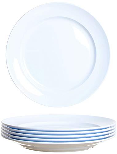 idea-station Gastro Kunststoff-Teller 6 Stück, 24 cm, weiß, mehrweg, bruchsicher, rund, stapelbar, Teller-Set, Speise-Teller, Plastik-Teller, Plastik-Geschirr, Camping-Teller, Kinder-Teller