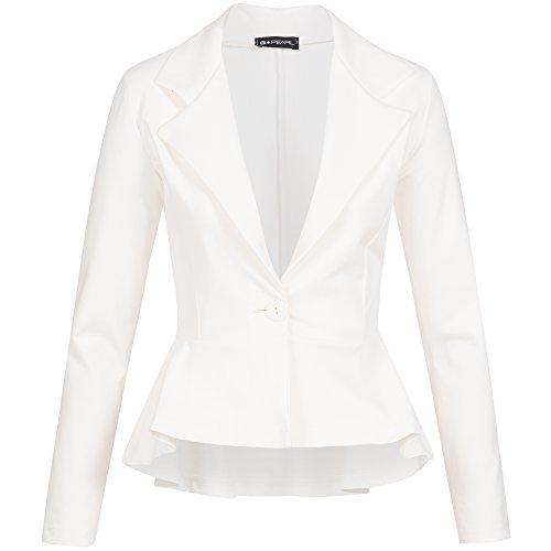 G-Pearl Business Blazer Freizeit Party Casual Elegant Jackett One Button Figurbetonend Schößchen 959 -