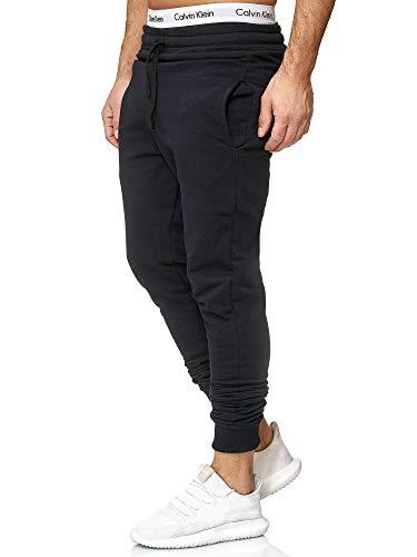 OneRedox Herren | Jogginghose | Trainingshose | Sport Fitness | Gym | Training | Slim Fit | Sweatpants Streifen | Jogging-Hose | Stripe Pants | Modell 5000C Navy M