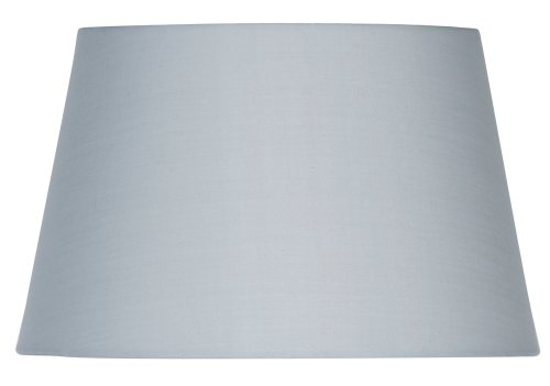 Oaks Lighting Lampenschirm aus Baumwolle, zylindrisch, weiches Grau