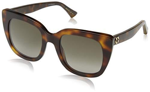Gucci Damen GG0163S 002 Sonnenbrille, Braun (2/Brown), 51