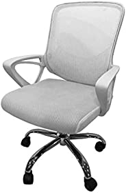 Moving Swivel Office Chair with Mesh Back, Steel Base and Sponge Seat Covered with Fabric