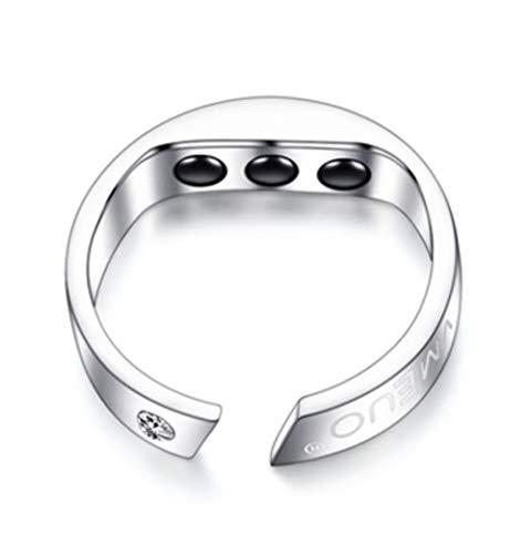 WSHA Schlafhilfe, Anti-Schnarchen Ring Magnetische Therapie Akupressur-Behandlung Eleganten Magnetischen Ring Für Schnarchen Gerät Snore Stopper Finger Ring,S