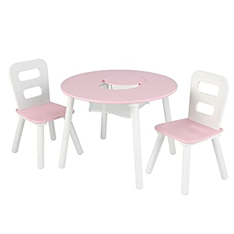 KidKraft Round Storage Table and 2 Chairs Set,