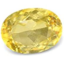 Vaibhav Gems Pukhraj Stone Original Certified Natural Yellow Sapphire Gemstone 5.5 Ratti