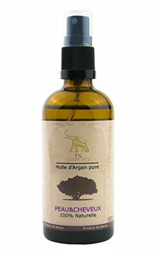 Reines Arganöl 100 ml. 100% kalt gepresst Argan Oil, ohne Konservierungsstoffe für Gesicht, Haare, Haut, Nägel - Natürlich & intensiv feuchtigkeitsspendend nährend für weiche, junge Haut, glatte Haare & gesunde Nägel, reich an Vitamin E, Anti Aging Serum, Natürliche Geruch, ECO CERT, ÖKO-GARANTIE CERT, USDA ORGANIC CERT