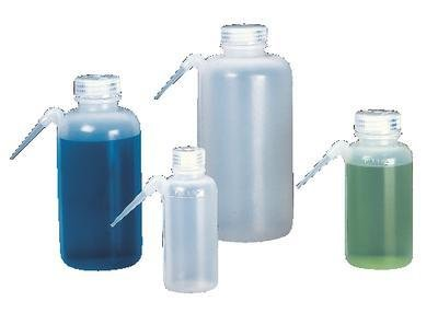Nalgene LDPE wide-mouth Waschen Flaschen/tubulation mit Polypropylen Schraubverschluss, 125ml Fassungsvermögen (Fall von 48) -
