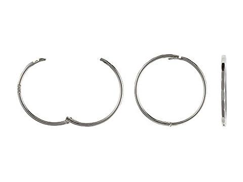 14mm Facettiert Scharnier Sleeper Hoop Ohrringe–925Sterling Silber–Lieferung in gratis Geschenkbox/Geschenkbeutel