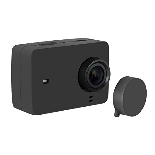 Galleria fotografica Rhodesy Xiaomi Yi 4K/4K+ Custodia Protettiva in Silicone + Copriobiettivo per Fotocamera Xiaomi Yi 4K/4K+ Action 2
