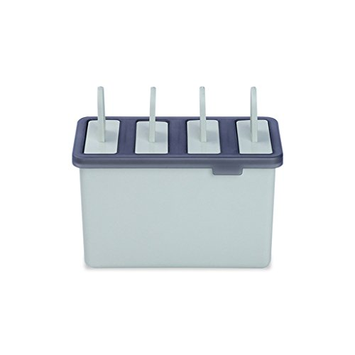 1Stück 4Zellen Kunststoff Popsicle Schimmel Haushalt Frozen Ice Creme Maker Form Küche Werkzeuge 13.5*8.5*5.7cm grün (Ice Maker Schimmel)