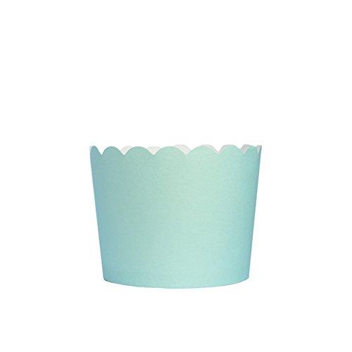 Beiersi 24Pcs Papierkuchen Liner Tasse Cupcake Muffin Backen (Hellblau)