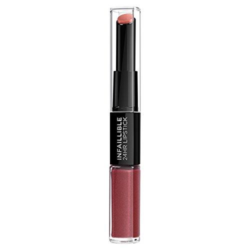 L'Oreal Paris Lippen Make-up Infaillible Lippenstift, 507 Relentless Rouge /Liquid Lipstick für 24 Stunden volle Lippen mit feuchtigkeitsspendendem Lippenpflege - Balsam, 1er Pack