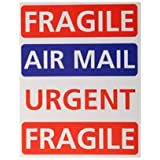 Owl Brand Self Adhesive Air Mailing Labels Pack of 16 Assorted Fragile / Air Mail / Urgent