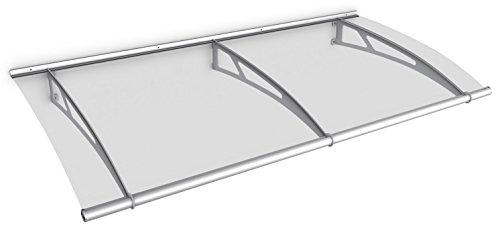 Pultbogenvordach Acrylglas durchgehend