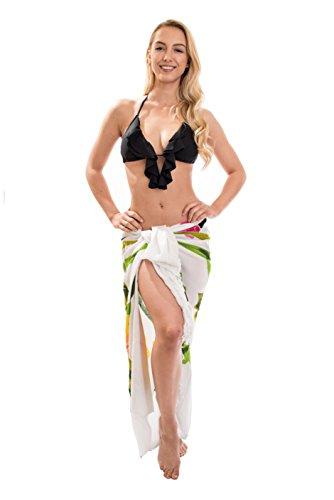 Ca 60 Modelle Sarong Pareo Wickelrock Strandtuch Tuch Wickeltuch Handtuch Bunte Sommer Muster Set Gratis Schnalle Schließe Wei