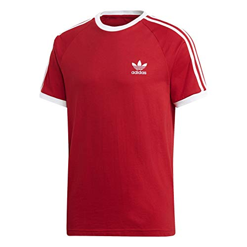 adidas Herren 3-Streifen T-Shirt, Power Red, XL -