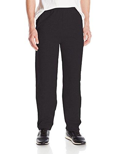 Hanes -  Pantaloni sportivi  - Uomo Black